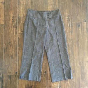 CAbi Brown Blue Ankle Cropped Trousers 2
